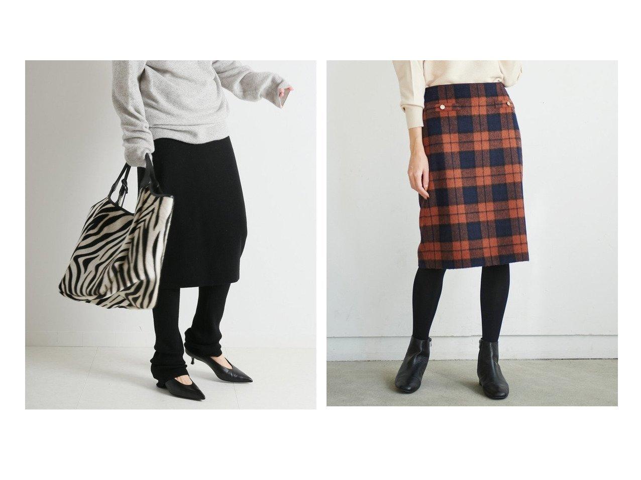 【Perle Peche/ペルルペッシュ】のウールシャギーチェックスカート&【FRAMeWORK/フレームワーク】のレギンス付きスカート スカートのおすすめ!人気、レディースファッションの通販  おすすめで人気のファッション通販商品 インテリア・家具・キッズファッション・メンズファッション・レディースファッション・服の通販 founy(ファニー) https://founy.com/ ファッション Fashion レディース WOMEN スカート Skirt レギンス Leggings 秋冬 A/W Autumn/ Winter シンプル ボトム レギンス 冬 Winter クラシカル スリット タイトスカート チェック  ID:crp329100000004034