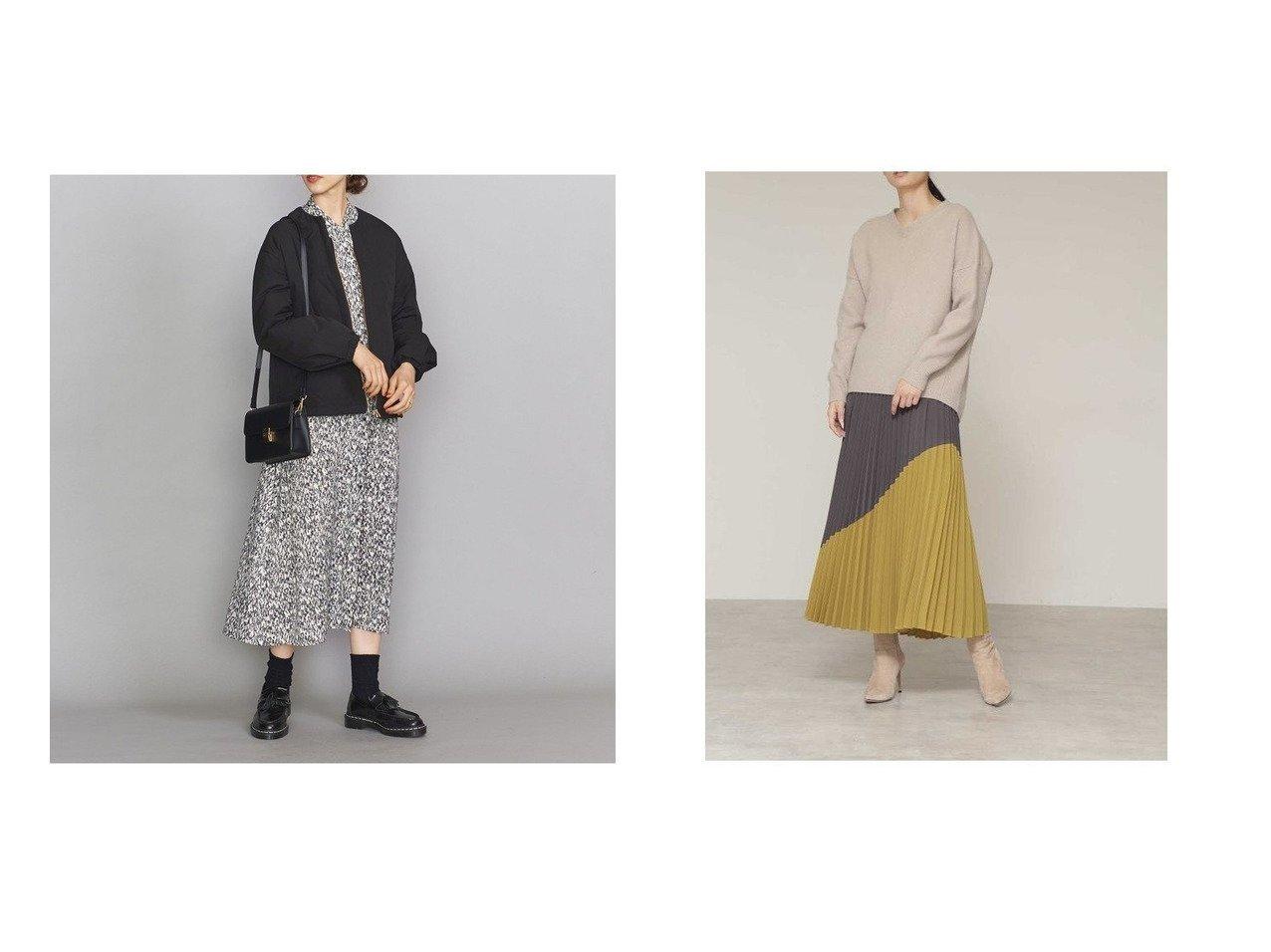 【BOSCH/ボッシュ】のバイカラープリーツスカート&【BEAUTY&YOUTH UNITED ARROWS/ビューティアンド ユースユナイテッドアローズ】のBY ショートダウンブルゾン スカートのおすすめ!人気、レディースファッションの通販  おすすめで人気のファッション通販商品 インテリア・家具・キッズファッション・メンズファッション・レディースファッション・服の通販 founy(ファニー) https://founy.com/ ファッション Fashion レディース WOMEN アウター Coat Outerwear ブルゾン Blouson Jackets スカート Skirt プリーツスカート Pleated Skirts コンパクト ショルダー ショート タイトスカート ダウン デニム ドロップ 定番 バランス フェミニン ブルゾン 冬 Winter ジョーゼット ブロッキング プリーツ  ID:crp329100000004042