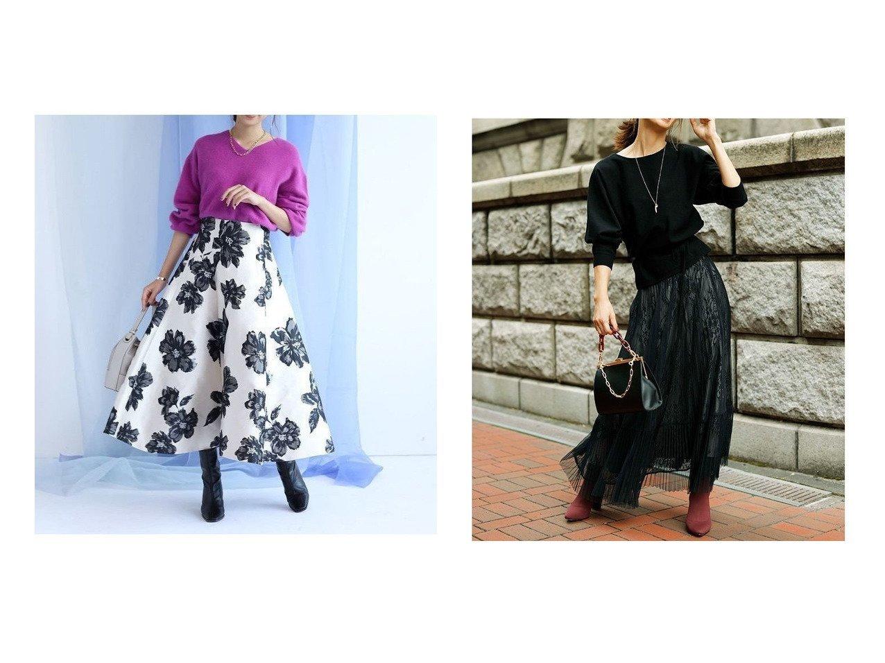 【JUSGLITTY/ジャスグリッティー】のチュールレーススカートSET UP&【追加生産/素材変更】ジャガードフレアスカート スカートのおすすめ!人気、レディースファッションの通販  おすすめで人気のファッション通販商品 インテリア・家具・キッズファッション・メンズファッション・レディースファッション・服の通販 founy(ファニー) https://founy.com/ ファッション Fashion レディース WOMEN スカート Skirt Aライン/フレアスカート Flared A-Line Skirts トップス Tops Tshirt セットアップ Setup トップス Tops スカート Skirt ギャザー シンプル ジャカード フラワー フレア ロング  ID:crp329100000004043