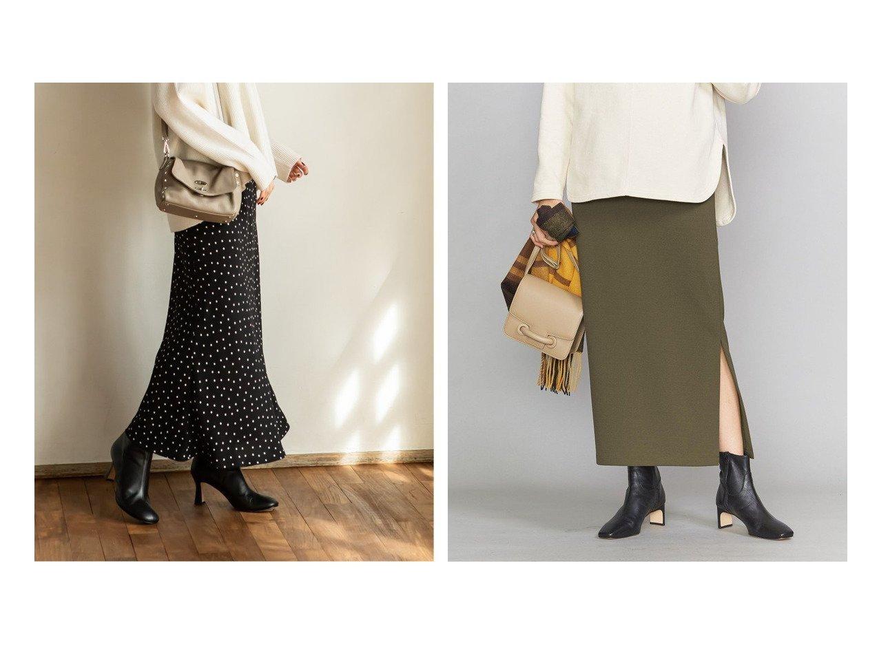 【NOBLE / Spick & Span/ノーブル / スピック&スパン】の《追加》【N.Jam】ドットマーメイドスカート&【BEAUTY&YOUTH UNITED ARROWS/ビューティアンド ユースユナイテッドアローズ】のBY サイドスリットマキシスカート スカートのおすすめ!人気、レディースファッションの通販  おすすめで人気のファッション通販商品 インテリア・家具・キッズファッション・メンズファッション・レディースファッション・服の通販 founy(ファニー) https://founy.com/ ファッション Fashion レディース WOMEN スカート Skirt Aライン/フレアスカート Flared A-Line Skirts コレクション ドット フレア プリント マーメイド ロング 秋冬 A/W Autumn/ Winter カットソー ギャザー ジョーゼット スウェット スリット タイトスカート トレンド 定番 マキシ リラックス |ID:crp329100000004046