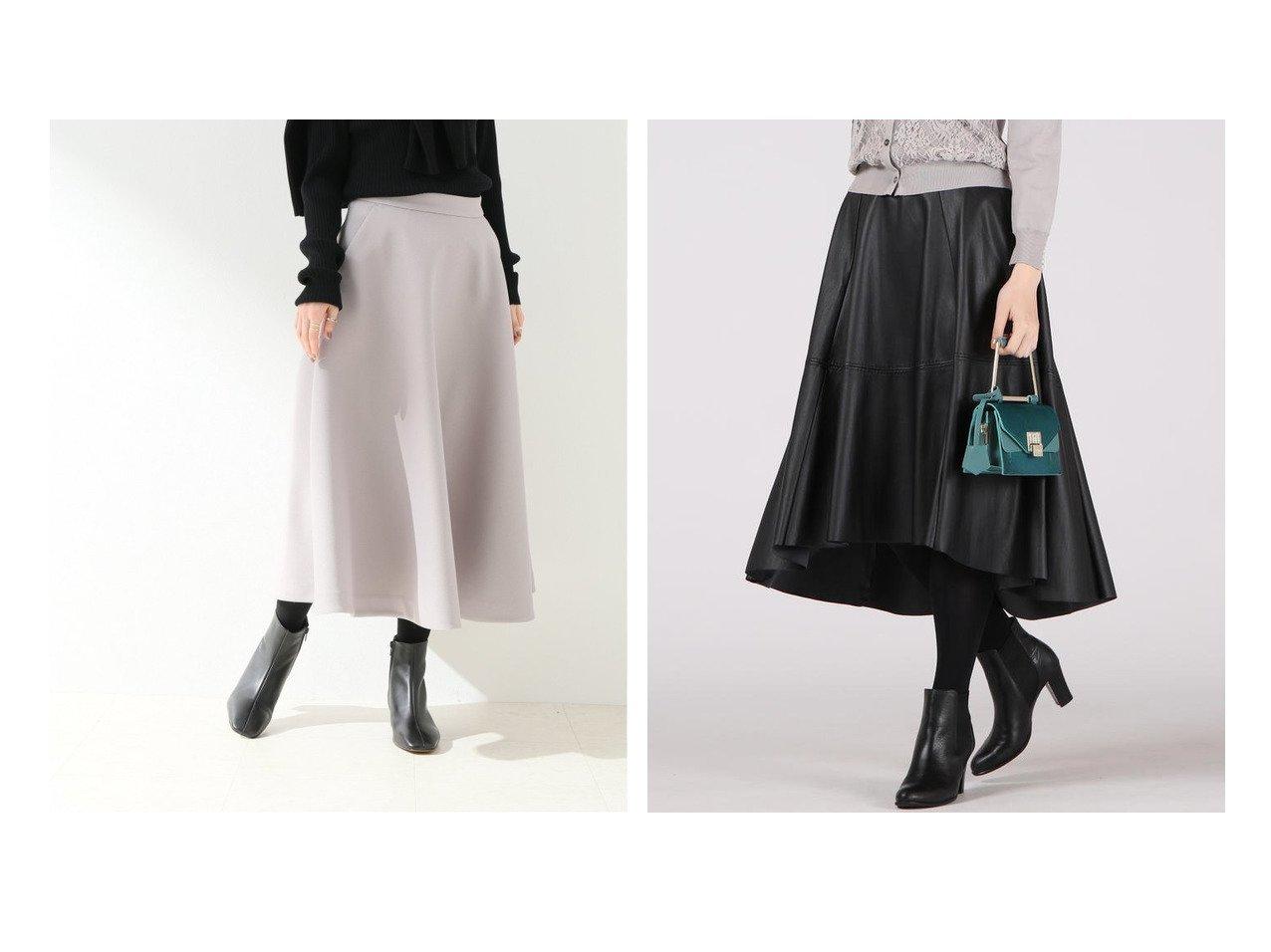 【Viaggio Blu/ビアッジョブルー】のエコレザーイレギュラーヘムフレアスカート&【SLOBE IENA/スローブ イエナ】のボンディングサーキュラースカート スカートのおすすめ!人気、レディースファッションの通販  おすすめで人気のファッション通販商品 インテリア・家具・キッズファッション・メンズファッション・レディースファッション・服の通販 founy(ファニー) https://founy.com/ ファッション Fashion レディース WOMEN スカート Skirt Aライン/フレアスカート Flared A-Line Skirts 秋冬 A/W Autumn/ Winter ボンディング ミモレ クッション フレア |ID:crp329100000004047