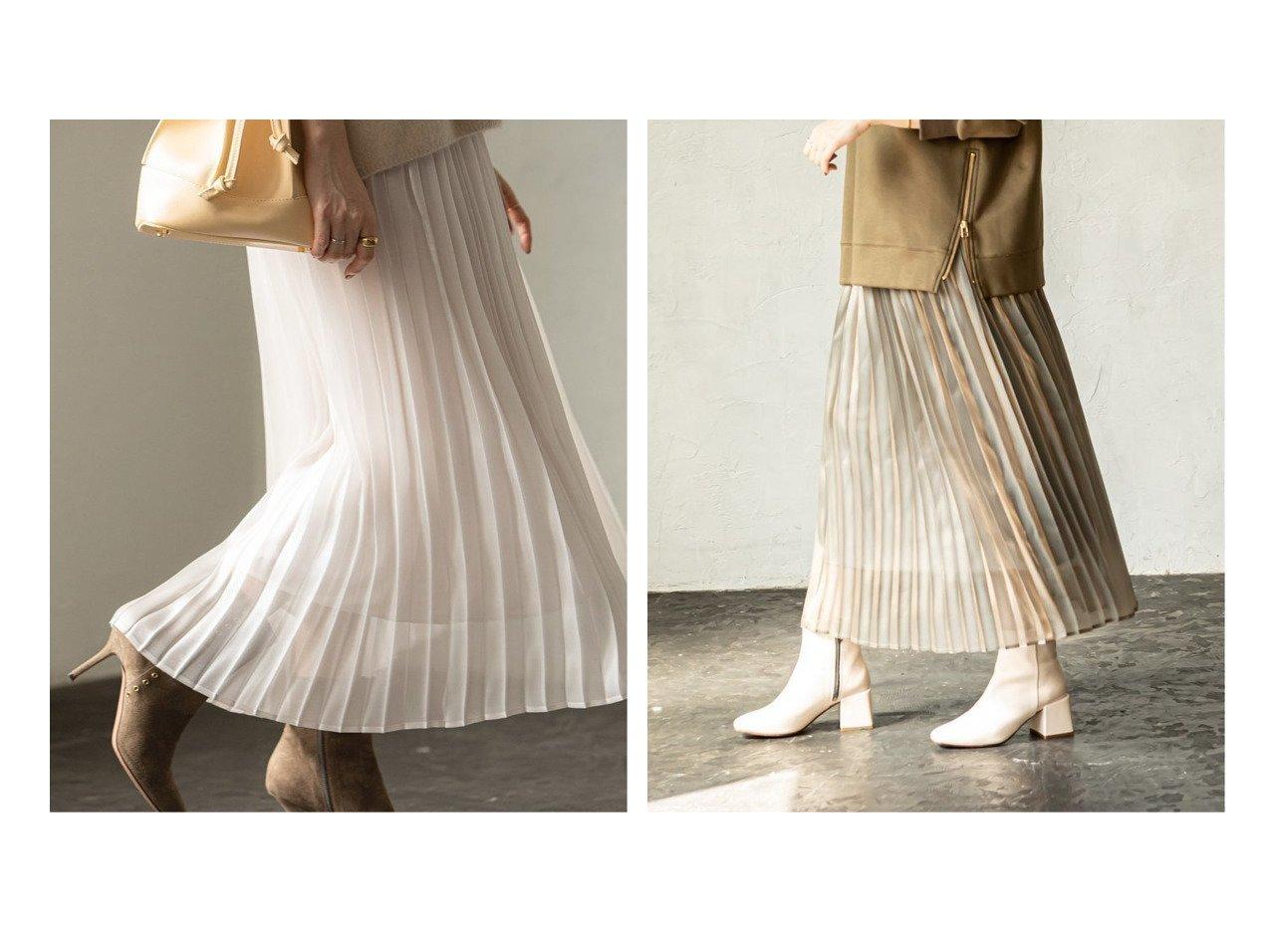 【NOBLE / Spick & Span/ノーブル / スピック&スパン】のシャイニーシャンブレープリーツスカート スカートのおすすめ!人気、レディースファッションの通販  おすすめで人気のファッション通販商品 インテリア・家具・キッズファッション・メンズファッション・レディースファッション・服の通販 founy(ファニー) https://founy.com/ ファッション Fashion レディース WOMEN スカート Skirt プリーツスカート Pleated Skirts 秋冬 A/W Autumn/ Winter サテン シャイニー シャンブレー ブライト プリーツ 冬 Winter |ID:crp329100000004048