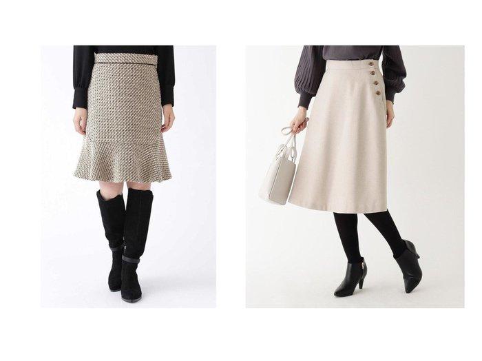 【INDEX/インデックス】の【WEB限定サイズ】ウールブレンドボタンフレアスカート&【JILLSTUART/ジルスチュアート】のジェシカスカート スカートのおすすめ!人気、レディースファッションの通販  おすすめファッション通販アイテム レディースファッション・服の通販 founy(ファニー) ファッション Fashion レディース WOMEN スカート Skirt Aライン/フレアスカート Flared A-Line Skirts イタリア シンプル タイツ ツイード バランス フレア ミックス カットソー チェック フロント 定番 無地 |ID:crp329100000004051