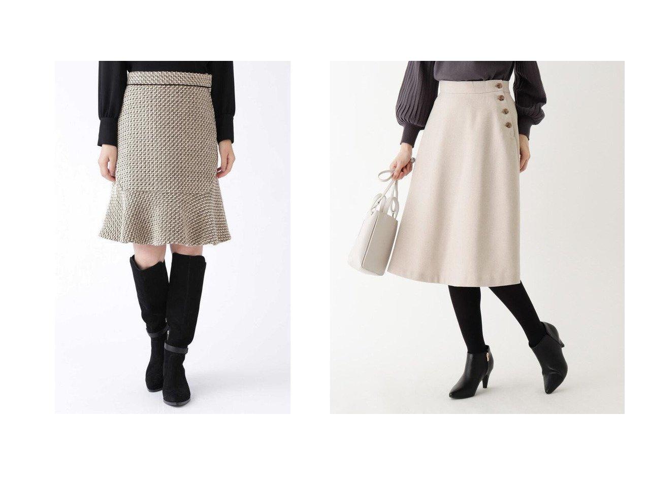 【INDEX/インデックス】の【WEB限定サイズ】ウールブレンドボタンフレアスカート&【JILLSTUART/ジルスチュアート】のジェシカスカート スカートのおすすめ!人気、レディースファッションの通販  おすすめファッション通販アイテム インテリア・キッズ・メンズ・レディースファッション・服の通販 founy(ファニー) ファッション Fashion レディース WOMEN スカート Skirt Aライン/フレアスカート Flared A-Line Skirts イタリア シンプル タイツ ツイード バランス フレア ミックス カットソー チェック フロント 定番 無地 ベージュ系 Beige レッド系 Red ブラック系 Black ブラウン系 Brown |ID:crp329100000004051