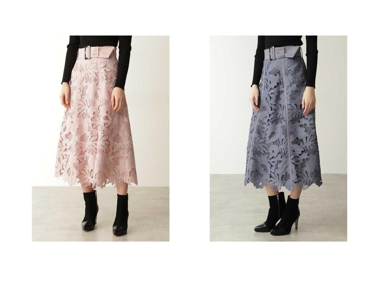 【Pinky&Dianne/ピンキーアンドダイアン】のフラワーケミカルレースフレアスカート スカートのおすすめ!人気、レディースファッションの通販  おすすめファッション通販アイテム インテリア・キッズ・メンズ・レディースファッション・服の通販 founy(ファニー) ファッション Fashion レディース WOMEN スカート Skirt Aライン/フレアスカート Flared A-Line Skirts ケミカル スマート フラワー フレア モチーフ レース レッド系 Red グレー系 Gray |ID:crp329100000004059