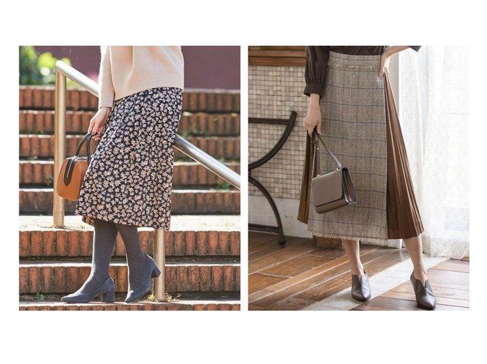 【J.PRESS/ジェイ プレス】の【洗える】アンティークフラワープリント スカート&【KUMIKYOKU/組曲】のツイードコンビ レザーライク プリーツスカート スカートのおすすめ!人気、レディースファッションの通販  おすすめファッション通販アイテム レディースファッション・服の通販 founy(ファニー) ファッション Fashion レディース WOMEN スカート Skirt プリーツスカート Pleated Skirts なめらか ギャザー サテン ピーチ フラワー プリント コンビ ストレッチ チェック ツイード プリーツ ループ 秋冬 A/W Autumn/ Winter |ID:crp329100000004061