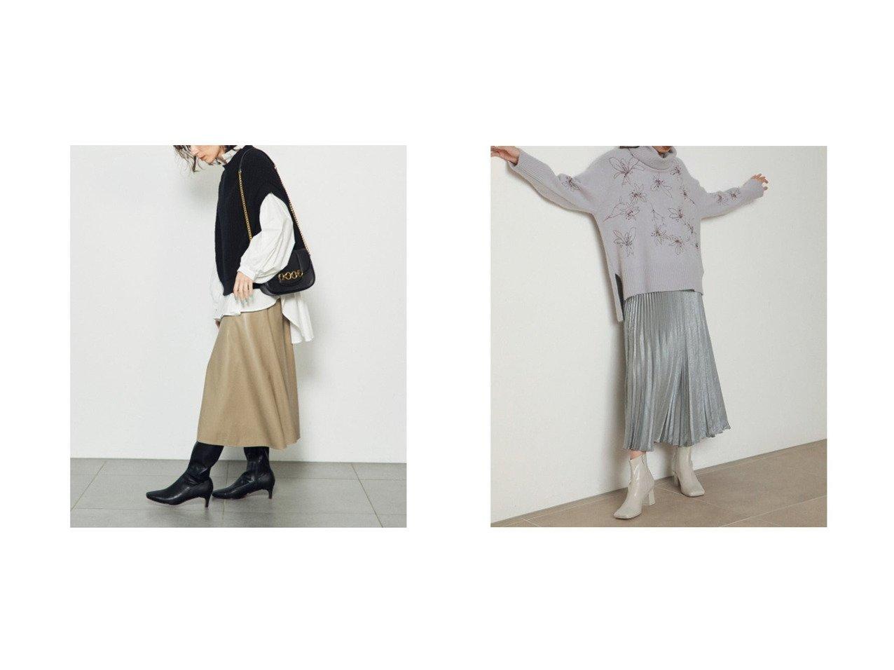 【SNIDEL/スナイデル】のバリエーションナロースカート&シャイニープリーツナロースカート スカートのおすすめ!人気、レディースファッションの通販  おすすめで人気のファッション通販商品 インテリア・家具・キッズファッション・メンズファッション・レディースファッション・服の通販 founy(ファニー) https://founy.com/ ファッション Fashion レディース WOMEN スカート Skirt オレンジ サテン ショート スエード スマート トレンド バランス フレア ミドル ロング A/W 秋冬 Autumn &  Winter シンプル パープル フェミニン プリーツ マーブル 無地 |ID:crp329100000004063