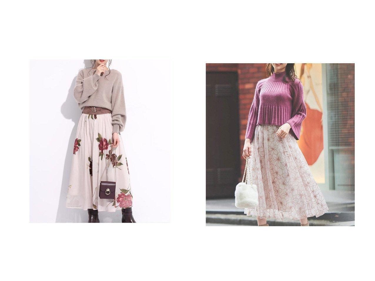 【Noela/ノエラ】のフロッキーチュールスカート&【Rirandture/リランドチュール】のベルト付きシアー大花スカート スカートのおすすめ!人気、レディースファッションの通販  おすすめで人気のファッション通販商品 インテリア・家具・キッズファッション・メンズファッション・レディースファッション・服の通販 founy(ファニー) https://founy.com/ ファッション Fashion レディース WOMEN スカート Skirt ベルト Belts シアー シンプル フェミニン フラワー プリント ワイド チュール レース 冬 Winter |ID:crp329100000004064
