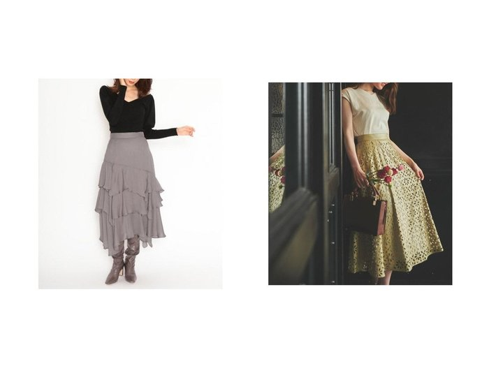 【Noela/ノエラ】のパンチングエコレザースカート&【SNIDEL/スナイデル】のボリュームフレアスカート スカートのおすすめ!人気、レディースファッションの通販  おすすめファッション通販アイテム レディースファッション・服の通販 founy(ファニー) ファッション Fashion レディース WOMEN スカート Skirt Aライン/フレアスカート Flared A-Line Skirts エアリー スマート ドット 定番 人気 パープル フレア |ID:crp329100000004065