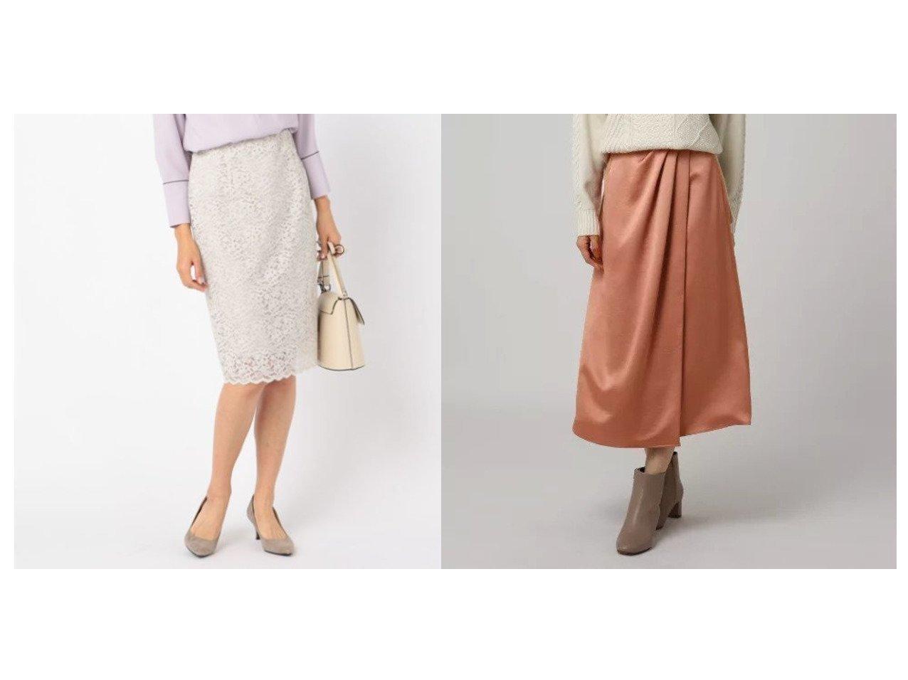 【UNTITLED/FAIRY SHADE/フェアリー シェード】のヴィンテージサテンラップ風スカート&【NOLLEY'S sophi/ノーリーズソフィー】のレーススカート スカートのおすすめ!人気、レディースファッションの通販  おすすめで人気のファッション通販商品 インテリア・家具・キッズファッション・メンズファッション・レディースファッション・服の通販 founy(ファニー) https://founy.com/ ファッション Fashion レディース WOMEN スカート Skirt エレガント レース サテン ラップ |ID:crp329100000004070