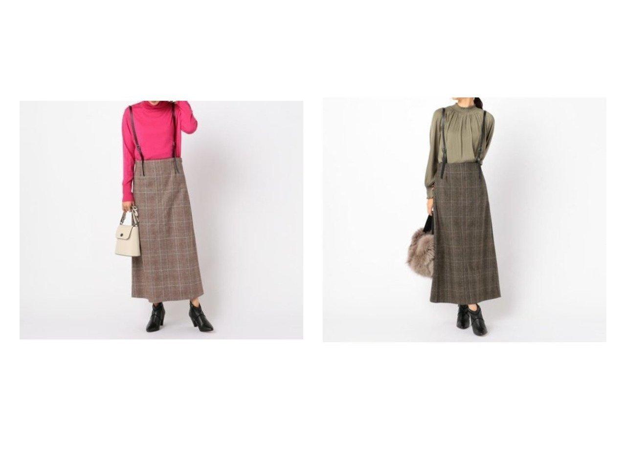 【NOLLEY'S/ノーリーズ】のグレンチェックサスペンダー付スカート スカートのおすすめ!人気、レディースファッションの通販  おすすめで人気のファッション通販商品 インテリア・家具・キッズファッション・メンズファッション・レディースファッション・服の通販 founy(ファニー) https://founy.com/ ファッション Fashion レディース WOMEN スカート Skirt カットソー サスペンダー チェック トレンド マキシ ロング A/W 秋冬 Autumn &  Winter |ID:crp329100000004074