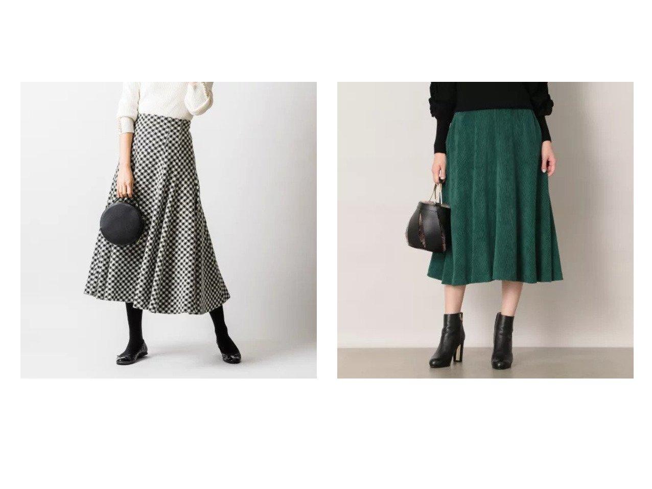 【EPOCA THE SHOP/エポカ ザ ショップ】の【EPOCA THE SHOP】コーデュロイフレアスカート&【VIRINA/ヴィリーナ】のウィローフレアスカート(千鳥小) スカートのおすすめ!人気、レディースファッションの通販  おすすめで人気のファッション通販商品 インテリア・家具・キッズファッション・メンズファッション・レディースファッション・服の通販 founy(ファニー) https://founy.com/ ファッション Fashion レディース WOMEN スカート Skirt Aライン/フレアスカート Flared A-Line Skirts アンゴラ シンプル ストレッチ タンブラー フレア マキシ ロング 楽ちん 冬 Winter コーデュロイ ジップ ドレープ A/W 秋冬 Autumn &  Winter |ID:crp329100000004075