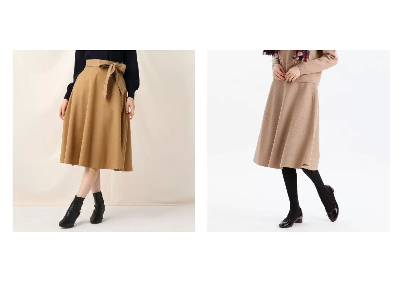 【Couture Brooch/クチュール ブローチ】のリボンベルトフレアスカート&【MACKINTOSH PHILOSOPHY/マッキントッシュ フィロソフィー】のフレアニットスカート スカートのおすすめ!人気、レディースファッションの通販  おすすめで人気のファッション通販商品 インテリア・家具・キッズファッション・メンズファッション・レディースファッション・服の通販 founy(ファニー) https://founy.com/ ファッション Fashion レディース WOMEN スカート Skirt Aライン/フレアスカート Flared A-Line Skirts ベルト Belts ウォーム ショート トレンド フレア リボン A/W 秋冬 Autumn &  Winter セットアップ マキシ ロング |ID:crp329100000004076