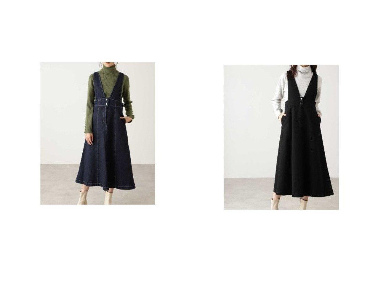 【N.Natural Beauty basic/エヌ ナチュラルビューティーベーシック】のVネックハイウエストジャンパースカート スカートのおすすめ!人気、レディースファッションの通販  おすすめで人気のファッション通販商品 インテリア・家具・キッズファッション・メンズファッション・レディースファッション・服の通販 founy(ファニー) https://founy.com/ ファッション Fashion レディース WOMEN トップス Tops Tshirt シャツ/ブラウス Shirts Blouses Vネック V-Neck インナー カットソー スニーカー ダウン |ID:crp329100000004077
