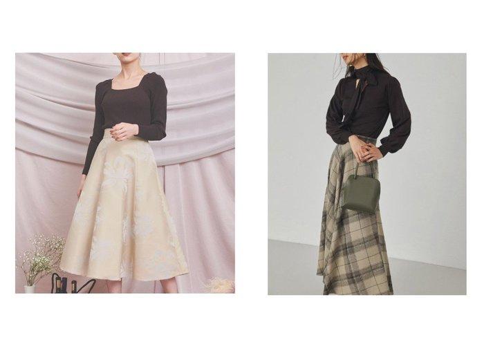 【Noela/ノエラ】のラインフラワーフロッキースカート&【FRAY I.D/フレイ アイディー】のウールロングフレアスカート スカートのおすすめ!人気、レディースファッションの通販  おすすめファッション通販アイテム レディースファッション・服の通販 founy(ファニー) ファッション Fashion レディース WOMEN スカート Skirt ロングスカート Long Skirt Aライン/フレアスカート Flared A-Line Skirts コンパクト サテン フィット フレア ロング |ID:crp329100000004084
