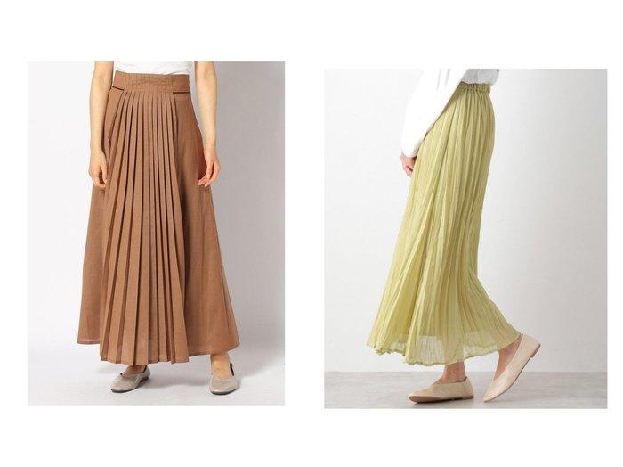 【LEPSIM LOWRYS FARM/レプシィム ローリーズファーム】のホリプリーツSK&【studio CLIP/スタディオ クリップ】のマエプリーツマキシスカート スカートのおすすめ!人気、レディースファッションの通販  おすすめファッション通販アイテム レディースファッション・服の通販 founy(ファニー) ファッション Fashion レディース WOMEN スカート Skirt ロングスカート Long Skirt プリーツスカート Pleated Skirts ツイード フレア フロント プリーツ ロング ギャザー シフォン ランダム A/W 秋冬 Autumn & Winter |ID:crp329100000004085