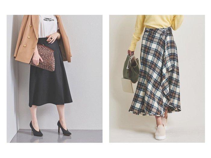 【The Virgnia/ザ ヴァージニア】のボタニーチェックフレアスカート&【UNITED ARROWS/ユナイテッドアローズ】のUBCS W SMT フレアスカート スカートのおすすめ!人気、レディースファッションの通販  おすすめファッション通販アイテム レディースファッション・服の通販 founy(ファニー) ファッション Fashion レディース WOMEN スカート Skirt Aライン/フレアスカート Flared A-Line Skirts エレガント ジャージー フィット フレア ミドル クラシカル ストレッチ チェック トレンド フリンジ ミモレ ヴィンテージ 今季 |ID:crp329100000004086