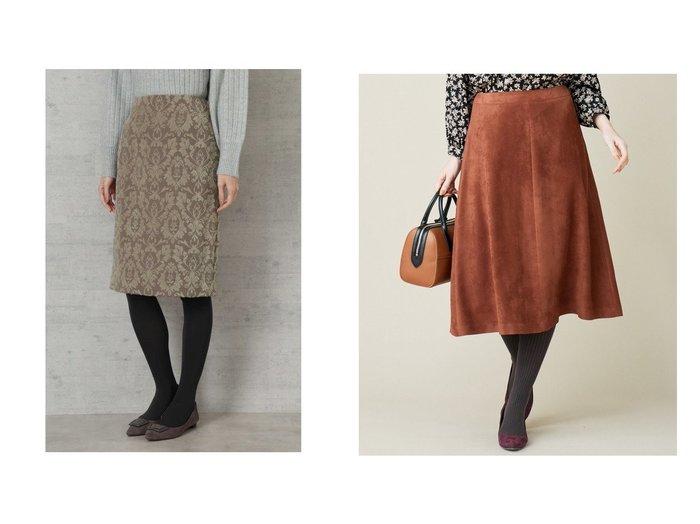 【NATURAL BEAUTY BASIC/ナチュラル ビューティー ベーシック】のオーナメントジャガードタイトスカート&【J.PRESS/ジェイ プレス】のPeスエード スカート スカートのおすすめ!人気、レディースファッションの通販  おすすめファッション通販アイテム レディースファッション・服の通販 founy(ファニー) ファッション Fashion レディース WOMEN スカート Skirt クラシカル シンプル タイトスカート スエード トレンド ランダム リアル |ID:crp329100000004087
