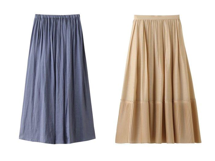 【Chaos/カオス】のCRロットフレアースカート&【ebure/エブール】のライトシルクウール 切替プリーツスカート スカートのおすすめ!人気、レディースファッションの通販  おすすめファッション通販アイテム レディースファッション・服の通販 founy(ファニー) ファッション Fashion レディース WOMEN スカート Skirt ロングスカート Long Skirt プリーツスカート Pleated Skirts アンダー ギャザー フレア ロング シルク プリーツ 切替 |ID:crp329100000004089
