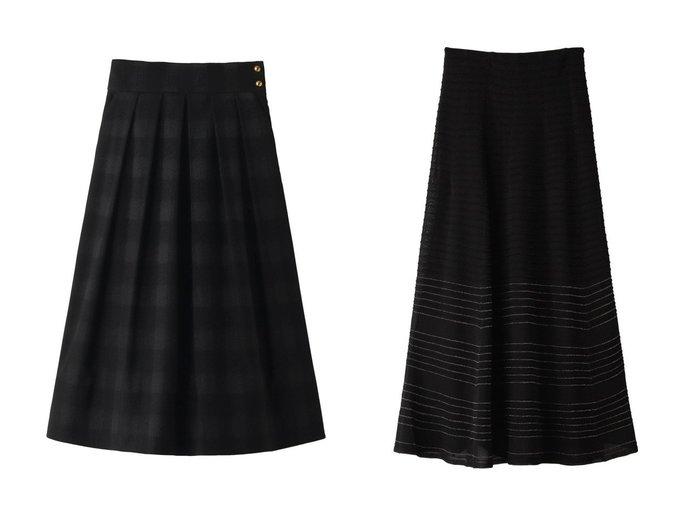 【ANAYI/アナイ】のシャドーチェックタックスカート&【allureville/アルアバイル】の【Loulou Willoughby】ラメボーダーニットスカート スカートのおすすめ!人気、レディースファッションの通販  おすすめファッション通販アイテム レディースファッション・服の通販 founy(ファニー) ファッション Fashion レディース WOMEN スカート Skirt ロングスカート Long Skirt ヘムライン 秋冬 A/W Autumn/ Winter フィット フォルム ボーダー ロング |ID:crp329100000004090