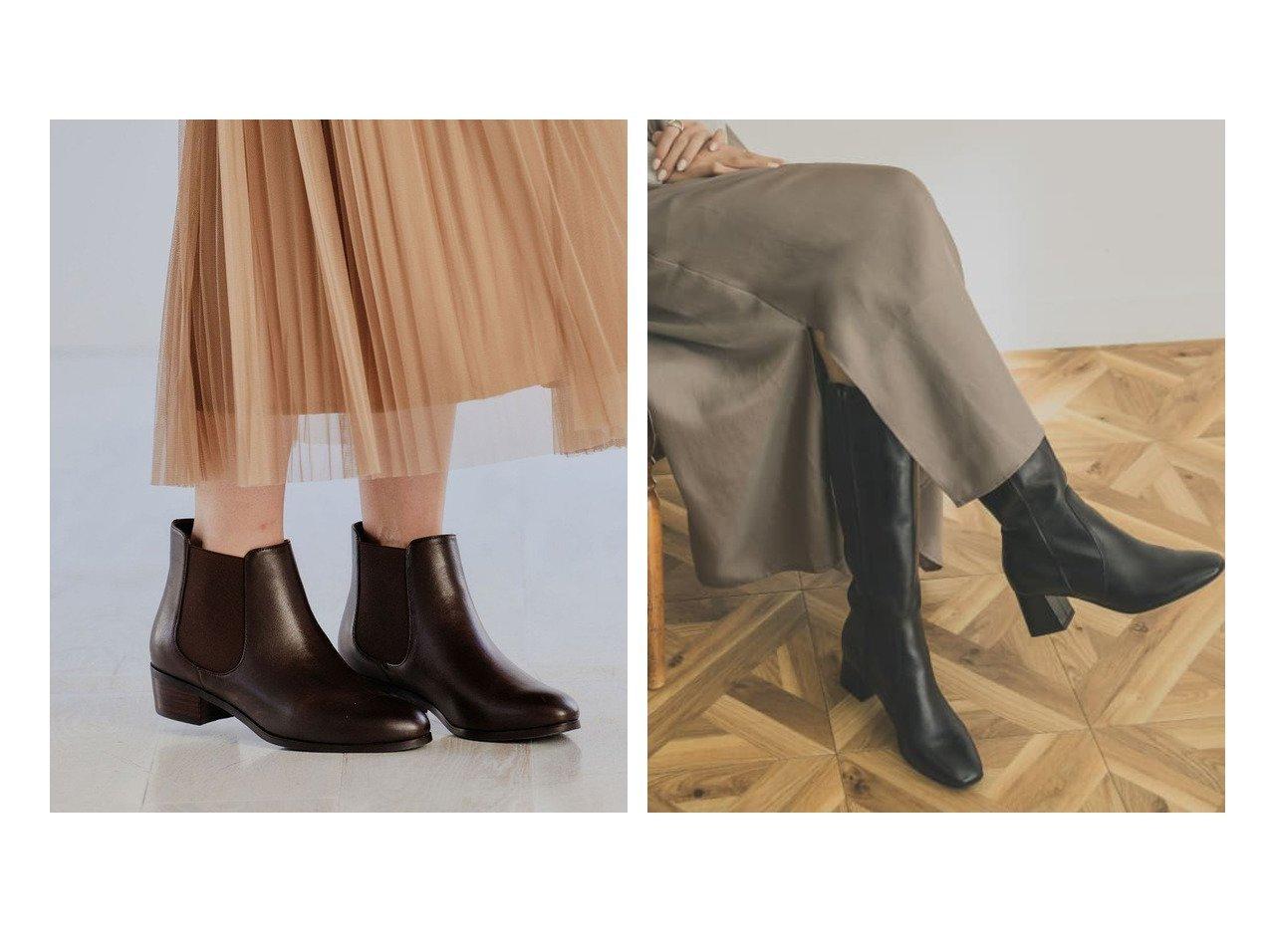 【green label relaxing / UNITED ARROWS/グリーンレーベル リラクシング / ユナイテッドアローズ】の21.5cm~25.5cm SC サイドゴア ショートブーツ(3.5cmヒール)&【URBAN RESEARCH/アーバンリサーチ】のPagano レザーロングブーツ シューズ・靴のおすすめ!人気、レディースファッションの通販  おすすめで人気のファッション通販商品 インテリア・家具・キッズファッション・メンズファッション・レディースファッション・服の通販 founy(ファニー) https://founy.com/ ファッション Fashion レディース WOMEN クッション 今季 シューズ ショート ロング ワイド トレンド バランス |ID:crp329100000004096