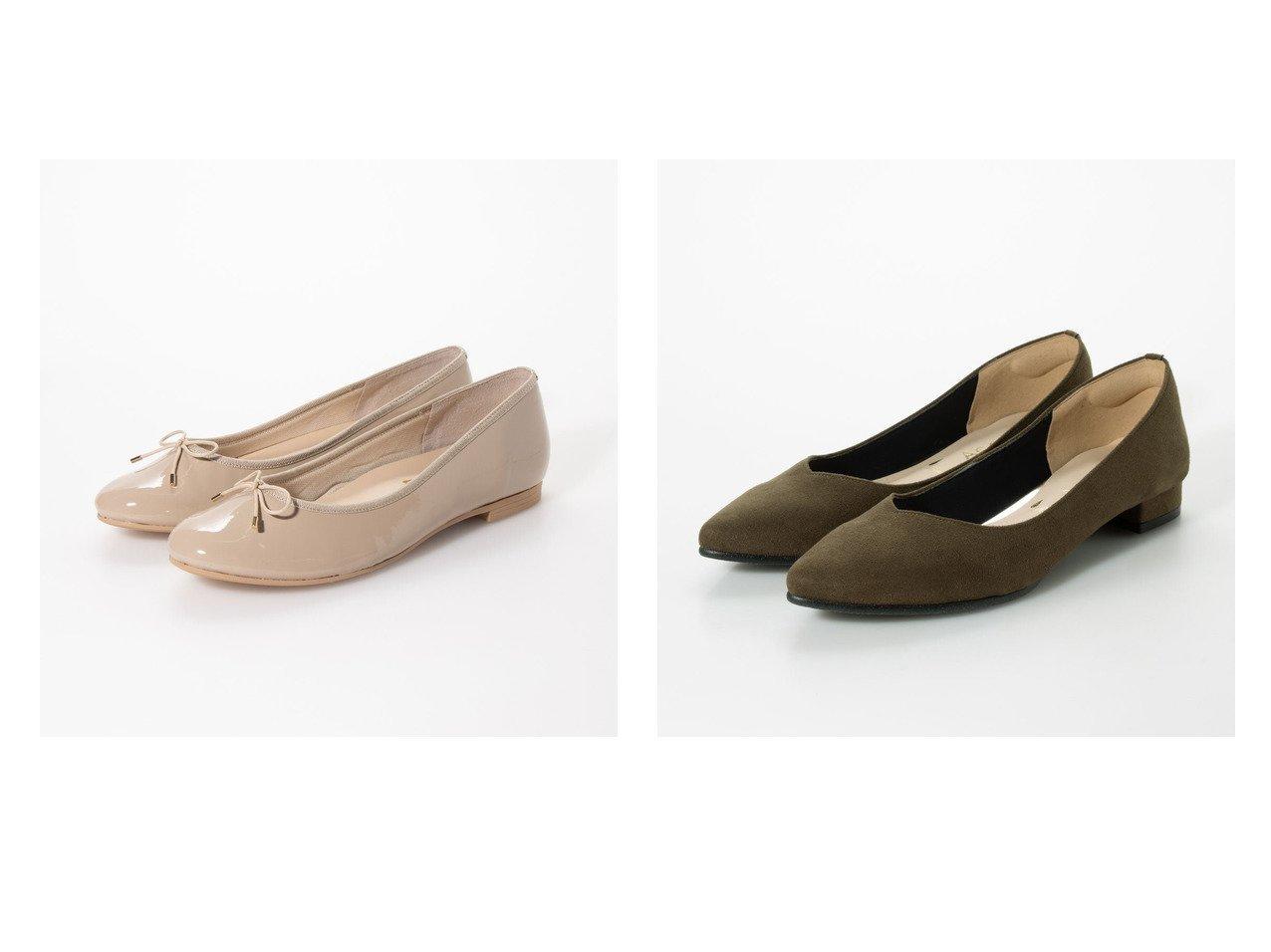 【Agosto/アゴスト】の【日本製】ポインテッドトゥVカットレインローヒールパンプス&【日本製】ラウンドトゥふわふわインソールバレエパンプス シューズ・靴のおすすめ!人気、レディースファッションの通販  おすすめで人気のファッション通販商品 インテリア・家具・キッズファッション・メンズファッション・レディースファッション・服の通販 founy(ファニー) https://founy.com/ ファッション Fashion レディース WOMEN クッション シューズ バレエ スエード レイン |ID:crp329100000004113