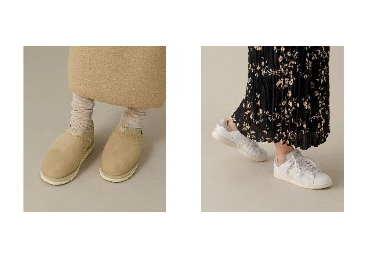 【Adam et Rope/アダム エ ロペ】の【SUICOKE】ムートンスリッポン&【adidas】STAN SMITH シューズ・靴のおすすめ!人気、レディースファッションの通販  おすすめで人気のファッション通販商品 インテリア・家具・キッズファッション・メンズファッション・レディースファッション・服の通販 founy(ファニー) https://founy.com/ ファッション Fashion レディース WOMEN シューズ ムートン クラシック スニーカー 人気 パッチ ビンテージ モダン |ID:crp329100000004117