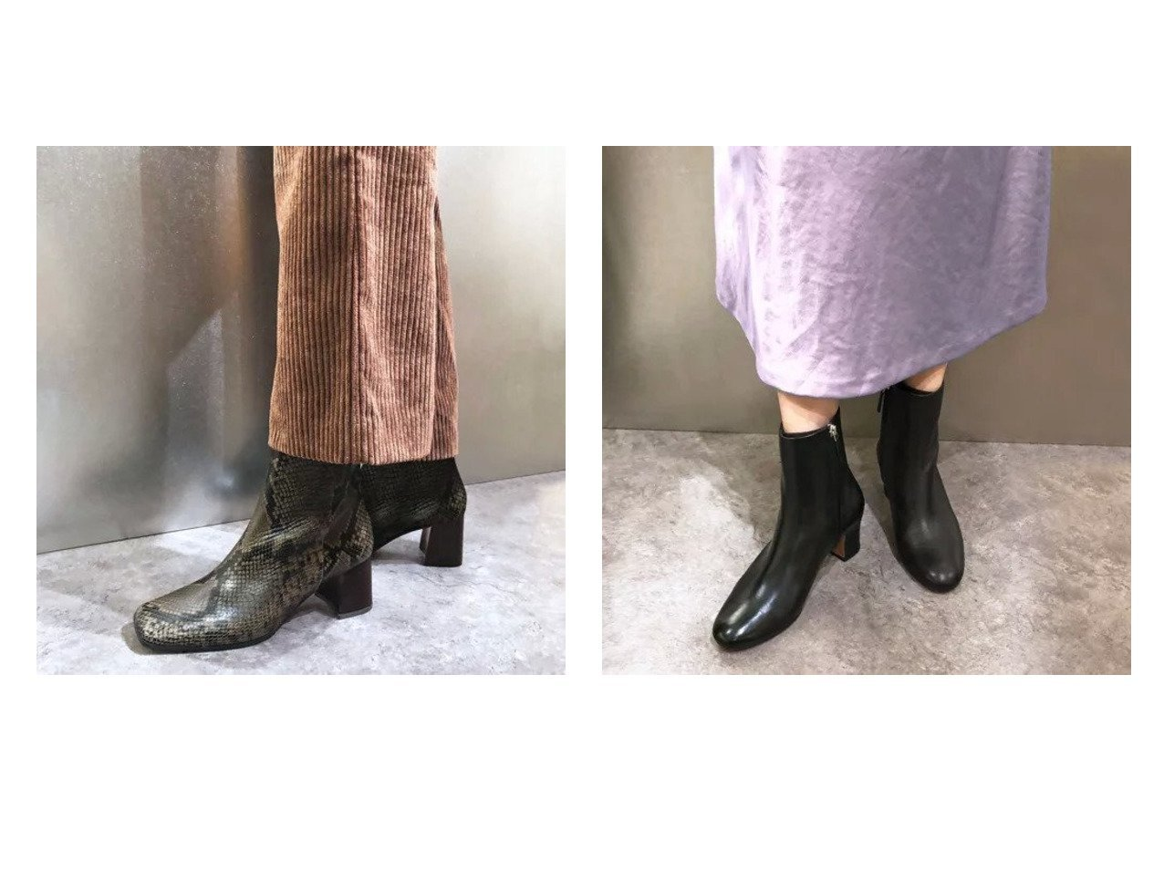 【enchanted/エンチャンテッド】の【APOM】本革スクエアトゥショートブーツ&【APOM】本革ラウンドトゥショートブーツ シューズ・靴のおすすめ!人気、レディースファッションの通販  おすすめで人気のファッション通販商品 インテリア・家具・キッズファッション・メンズファッション・レディースファッション・服の通販 founy(ファニー) https://founy.com/ ファッション Fashion レディース WOMEN シューズ ショート 今季 |ID:crp329100000004120