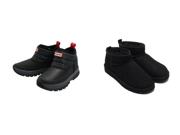 【HUNTER/ハンター】の【レディース】オリジナル スノーアンクルブーツ&【UGG Australia/アグ】のClassic Ultra Mini シューズ・靴のおすすめ!人気、レディースファッションの通販  おすすめファッション通販アイテム レディースファッション・服の通販 founy(ファニー) ファッション Fashion レディース WOMEN インナー クラシック シューズ ショート スタイリッシュ ハンド フィット 防寒 冬 Winter |ID:crp329100000004138