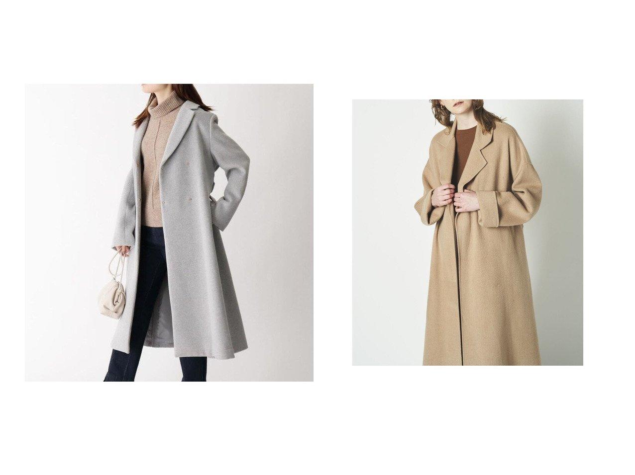 【OPAQUE.CLIP/オペークドットクリップ】のベルト付きガウンコート&【N.O.R.C/ノーク】のウールリバーBIGチェスターコート アウターのおすすめ!人気、レディースファッションの通販  おすすめで人気のファッション通販商品 インテリア・家具・キッズファッション・メンズファッション・レディースファッション・服の通販 founy(ファニー) https://founy.com/ ファッション Fashion レディース WOMEN アウター Coat Outerwear コート Coats チェスターコート Top Coat ベルト Belts ガウン チェスターコート フロント リボン カラフル ループ 定番 |ID:crp329100000004183