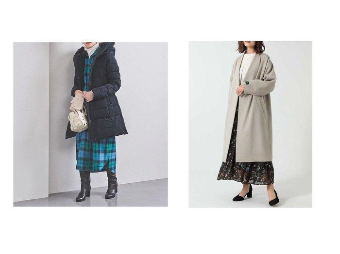 【UNITED ARROWS/ユナイテッドアローズ】のPUFFY PRESCOTT ダウンコート&【ROSE BUD/ローズバッド】のノーカラーウールコート アウターのおすすめ!人気、レディースファッションの通販  おすすめファッション通販アイテム レディースファッション・服の通販 founy(ファニー) ファッション Fashion レディース WOMEN アウター Coat Outerwear コート Coats ダウン Down Coats And Jackets アウトドア スポーティ ダウン ショルダー ドロップ ベーシック |ID:crp329100000004203