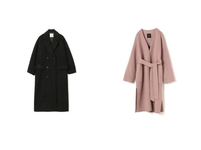 【CLANE/クラネ】のDOUBLE WOOL LONG COAT&【N.O.R.C/ノーク】のウールリバーノーカラーコート アウターのおすすめ!人気、レディースファッションの通販  おすすめファッション通販アイテム レディースファッション・服の通販 founy(ファニー) ファッション Fashion レディース WOMEN アウター Coat Outerwear コート Coats チェスターコート Top Coat シンプル スマート ダブル チェスターコート リラックス パイピング パッチ ポケット |ID:crp329100000004221