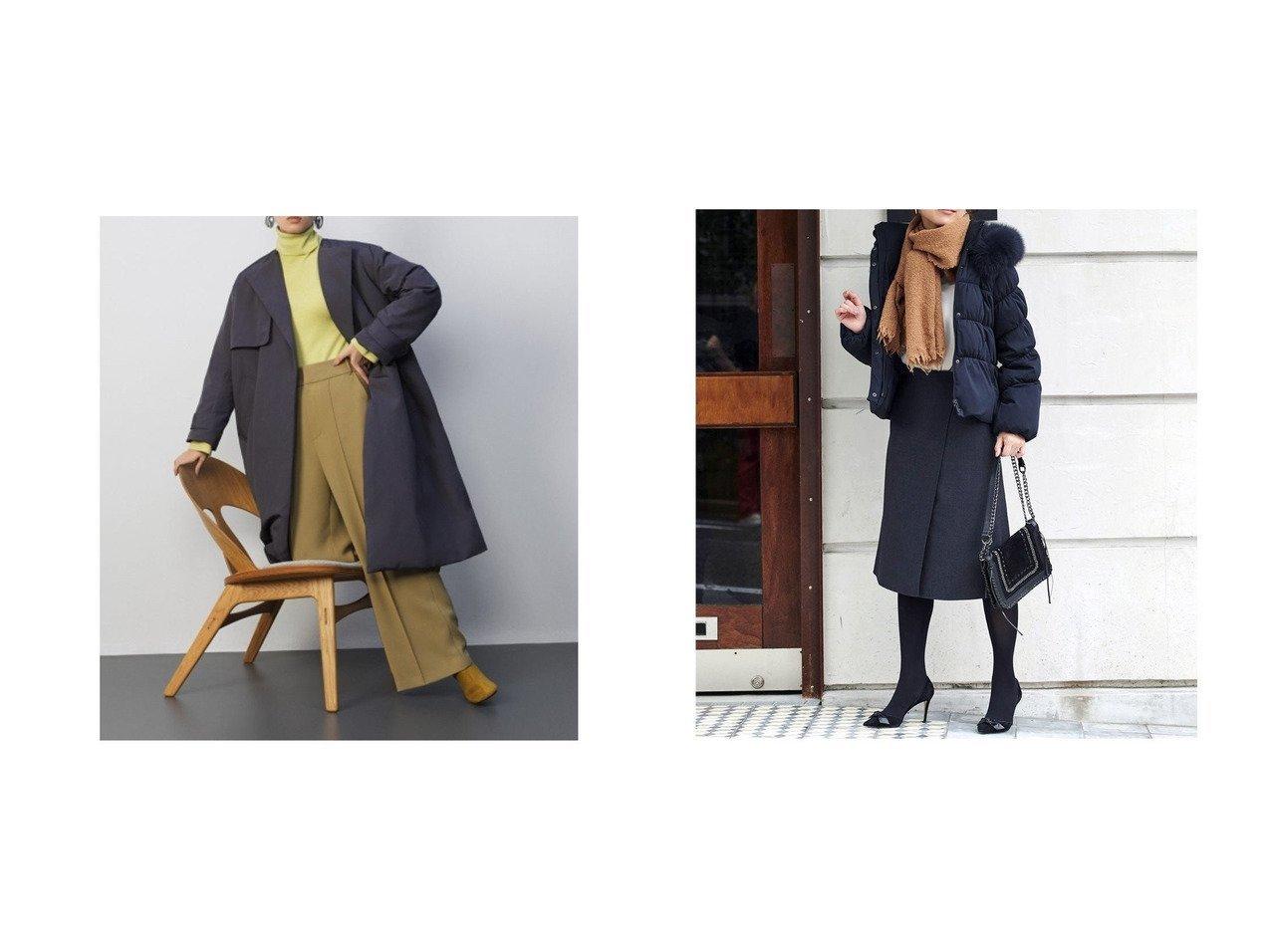 【RUIRUE BOUTIQUE/ルイ ルエ ブティック】のフォックスファーシャーリングダウンジャケット&【Mila Owen/ミラオーウェン】のAライントレンチダウンコート アウターのおすすめ!人気、レディースファッションの通販  おすすめで人気のファッション通販商品 インテリア・家具・キッズファッション・メンズファッション・レディースファッション・服の通販 founy(ファニー) https://founy.com/ ファッション Fashion レディース WOMEN アウター Coat Outerwear コート Coats ダウン Down Coats And Jackets ジャケット Jackets スマート ダウン トレンチ フェザー ロング |ID:crp329100000004225