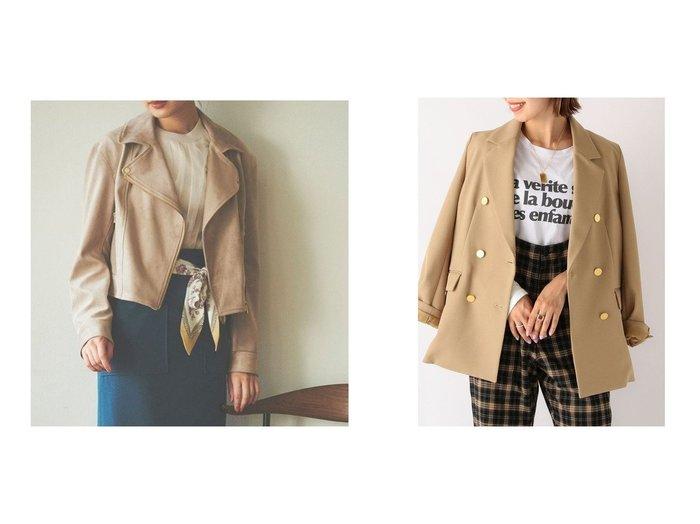 【SHIPS any/シップス エニィ】のSHIPS any: ダブル ジャケット&【31 Sons de mode/トランテアン ソン ドゥ モード】のフェイクスエードライダースジャケット アウターのおすすめ!人気、レディースファッションの通販  おすすめファッション通販アイテム レディースファッション・服の通販 founy(ファニー) ファッション Fashion レディース WOMEN アウター Coat Outerwear コート Coats ジャケット Jackets ライダース Riders Jacket テーラードジャケット Tailored Jackets ジャケット パーカー ライダースジャケット 定番 ダブル トレンド フェミニン フォルム ボトム ロング |ID:crp329100000004239