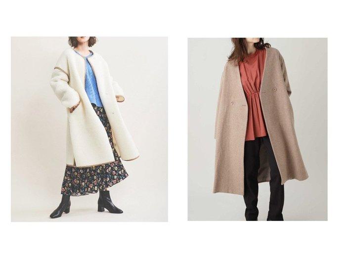 【The Virgnia/ザ ヴァージニア】のパイピングボアロングコート&【N.Natural Beauty basic/エヌ ナチュラルビューティーベーシック】のビーバーメルトンノーカラーコート アウターのおすすめ!人気、レディースファッションの通販  おすすめファッション通販アイテム レディースファッション・服の通販 founy(ファニー) ファッション Fashion レディース WOMEN アウター Coat Outerwear コート Coats ジャケット Jackets イタリア ジャケット ロング 冬 Winter 定番 イエロー シンプル 今季 A/W 秋冬 Autumn & Winter |ID:crp329100000004249