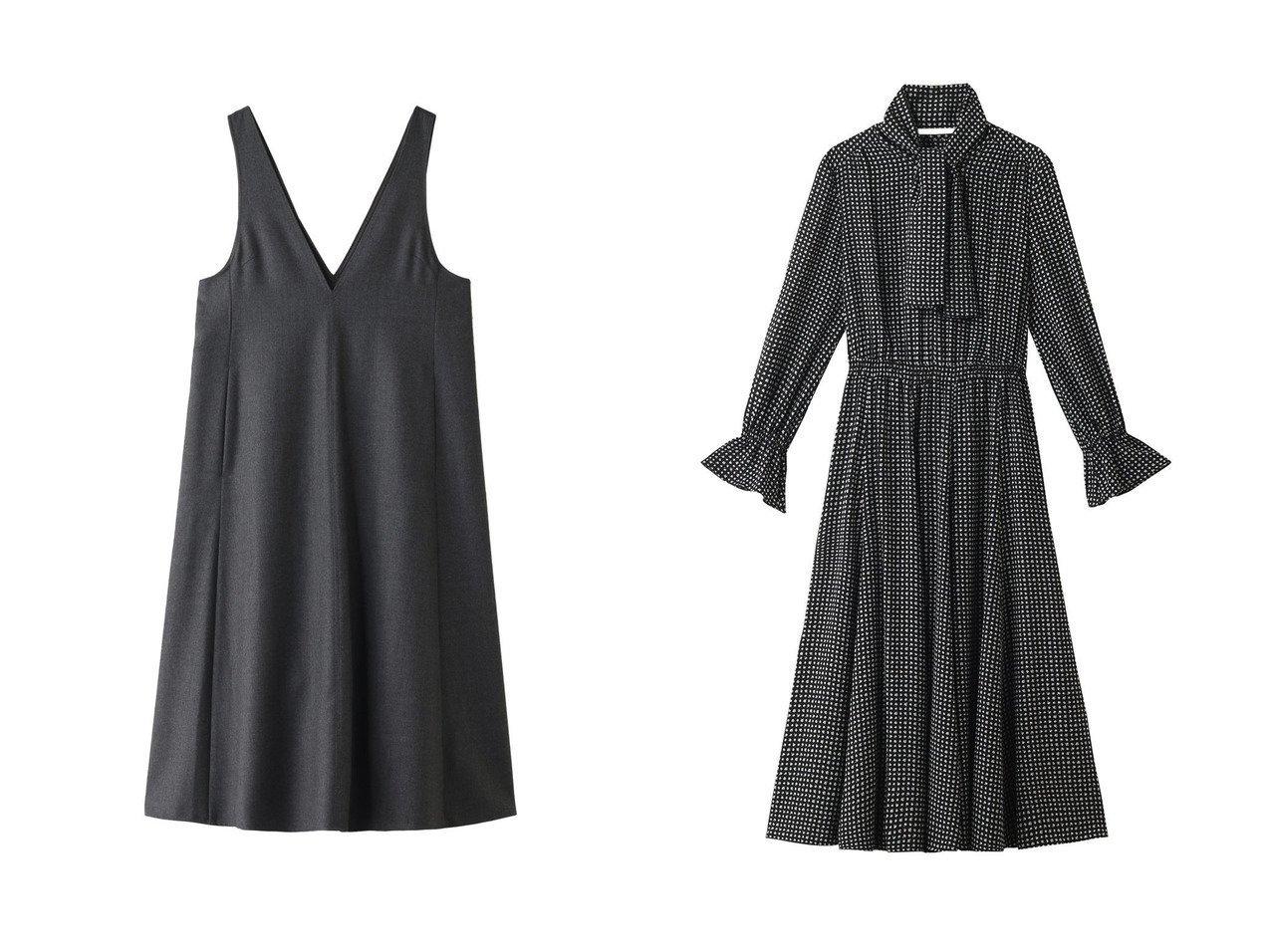 【ANAYI/アナイ】のウールフラノジャンパースカートワンピース&モノトーンPTフレアワンピース ワンピース・ドレスのおすすめ!人気、レディースファッションの通販  おすすめで人気のファッション通販商品 インテリア・家具・キッズファッション・メンズファッション・レディースファッション・服の通販 founy(ファニー) https://founy.com/ ファッション Fashion レディース WOMEN ワンピース Dress シンプル ロング  ID:crp329100000004260