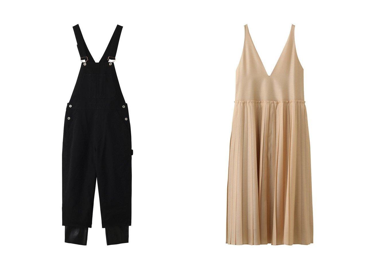 【nagonstans/ナゴンスタンス】のレイヤード オーバーオール R-05&【ebure/エブール】のライトシルクウール キャミワンピース ワンピース・ドレスのおすすめ!人気、レディースファッションの通販  おすすめで人気のファッション通販商品 インテリア・家具・キッズファッション・メンズファッション・レディースファッション・服の通販 founy(ファニー) https://founy.com/ ファッション Fashion レディース WOMEN ワンピース Dress オールインワン ワンピース All In One Dress キャミワンピース No Sleeve Dresses トレンド ベーシック ロング キャミワンピース シルク プリーツ 冬 Winter 半袖  ID:crp329100000004261