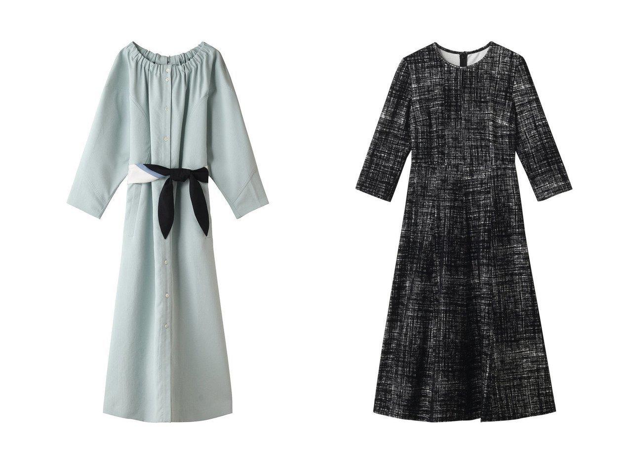 【AKIRANAKA/アキラナカ】のBodil ギャザーボートネックドレス&【ANAYI/アナイ】のフロッキーチェックフレアワンピース ワンピース・ドレスのおすすめ!人気、レディースファッションの通販  おすすめで人気のファッション通販商品 インテリア・家具・キッズファッション・メンズファッション・レディースファッション・服の通販 founy(ファニー) https://founy.com/ ファッション Fashion レディース WOMEN ワンピース Dress ドレス Party Dresses ギャザー スカーフ リボン ロング チェック ツイード フレア  ID:crp329100000004263