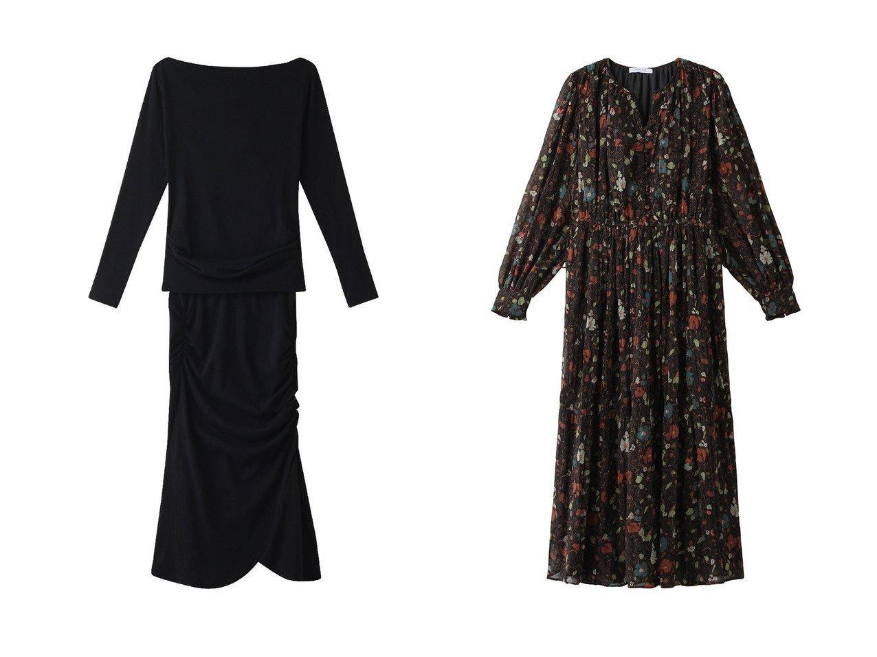 【ROSE BUD/ローズバッド】のフラワープリントプリーツワンピース&【+FOUR CORNERS/フォーコーナーズ】の【Junko Kato×+FOUR CORNERS】セットアップ ワンピース・ドレスのおすすめ!人気、レディースファッションの通販  おすすめで人気のファッション通販商品 インテリア・家具・キッズファッション・メンズファッション・レディースファッション・服の通販 founy(ファニー) https://founy.com/ ファッション Fashion レディース WOMEN トップス Tops Tshirt シャツ/ブラウス Shirts Blouses カットソー Cut and Sewn ワンピース Dress オフショル スリーブ セットアップ ドレープ ロング スニーカー バランス フェミニン フラワー プリント プリーツ リボン ヴィンテージ  ID:crp329100000004265