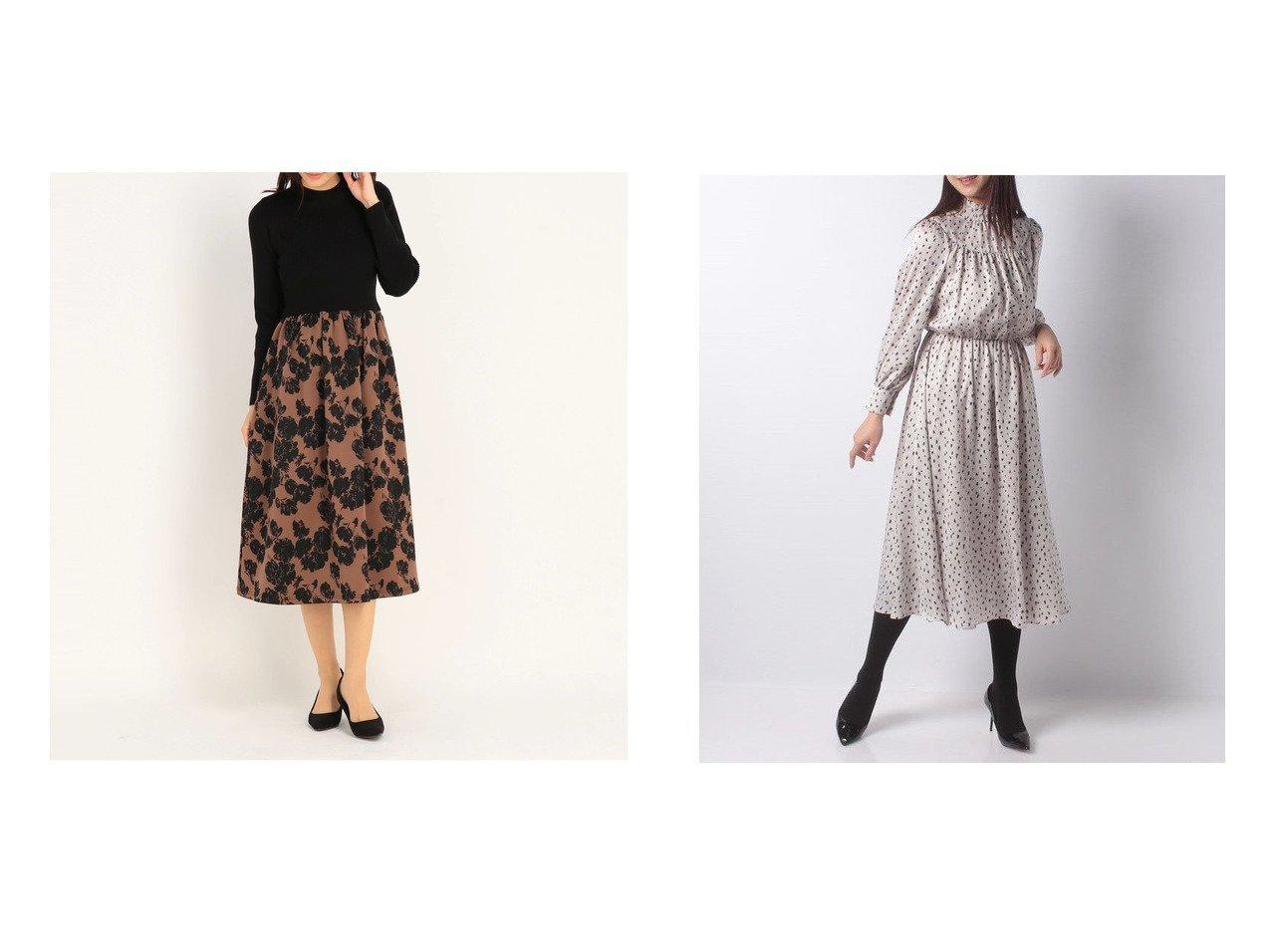 【STRAWBERRY FIELDS/ストロベリーフィールズ】のBGパトリオット ワンピース&【ANAYI/アナイ】のレオパードプリントシャーリングワンピース ワンピース・ドレスのおすすめ!人気、レディースファッションの通販  おすすめで人気のファッション通販商品 インテリア・家具・キッズファッション・メンズファッション・レディースファッション・服の通販 founy(ファニー) https://founy.com/ ファッション Fashion レディース WOMEN ワンピース Dress フィット フレア 人気 ギャザー シャーリング ハイネック プリント ミモレ レオパード  ID:crp329100000004272