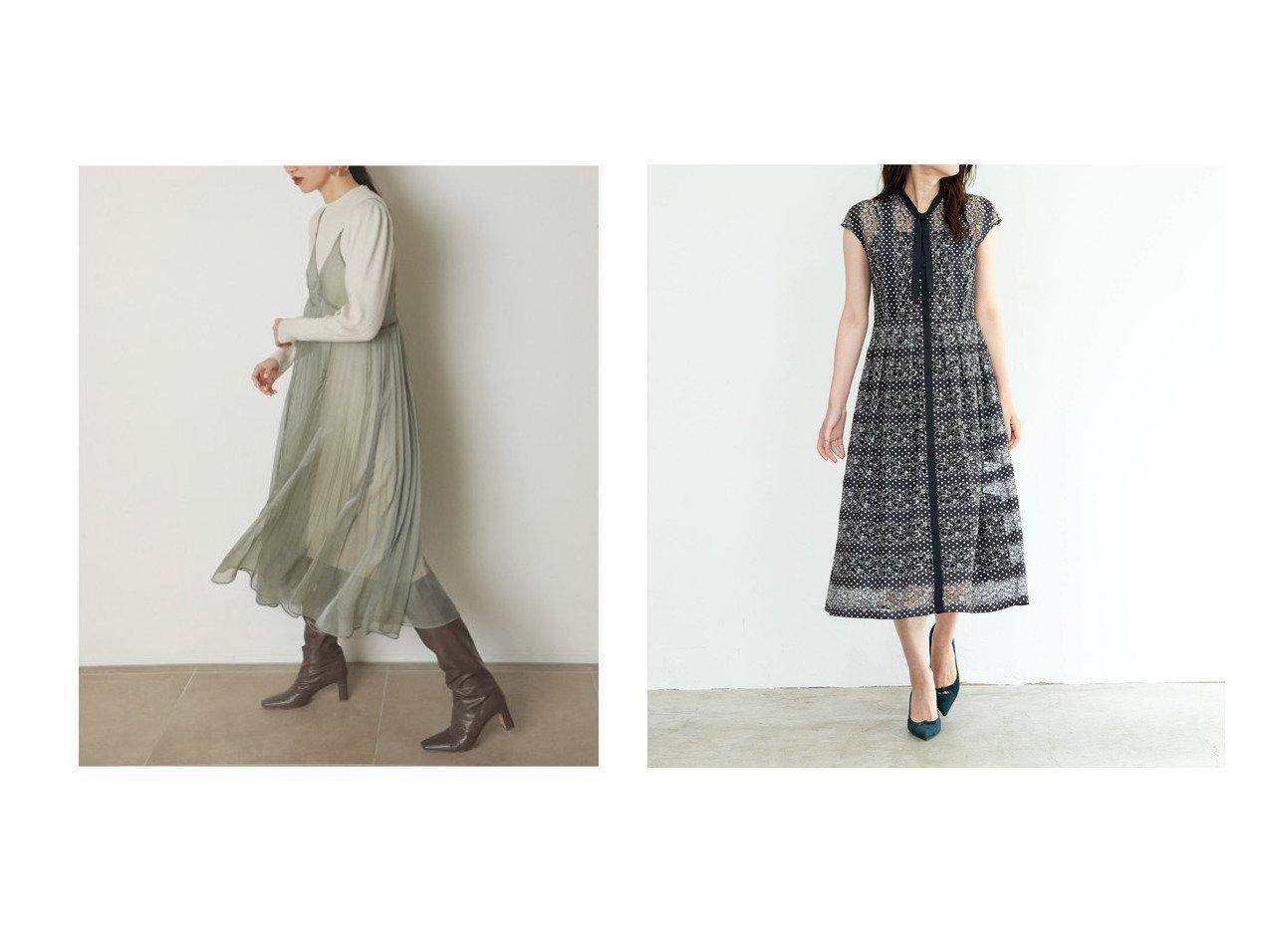 【ANAYI/アナイ】のフラワーレースドットPTタックワンピース&【SNIDEL/スナイデル】のシアーキャミレイヤードニットワンピース ワンピース・ドレスのおすすめ!人気、レディースファッションの通販  おすすめで人気のファッション通販商品 インテリア・家具・キッズファッション・メンズファッション・レディースファッション・服の通販 founy(ファニー) https://founy.com/ ファッション Fashion レディース WOMEN ワンピース Dress ニットワンピース Knit Dresses インナー キャミ キャミソール 今季 シアー スマート スリーブ トレンド 定番 人気 バランス ベーシック ミックス ストライプ ドット フィット フェミニン フレア フレンチ プリント レース 無地  ID:crp329100000004274