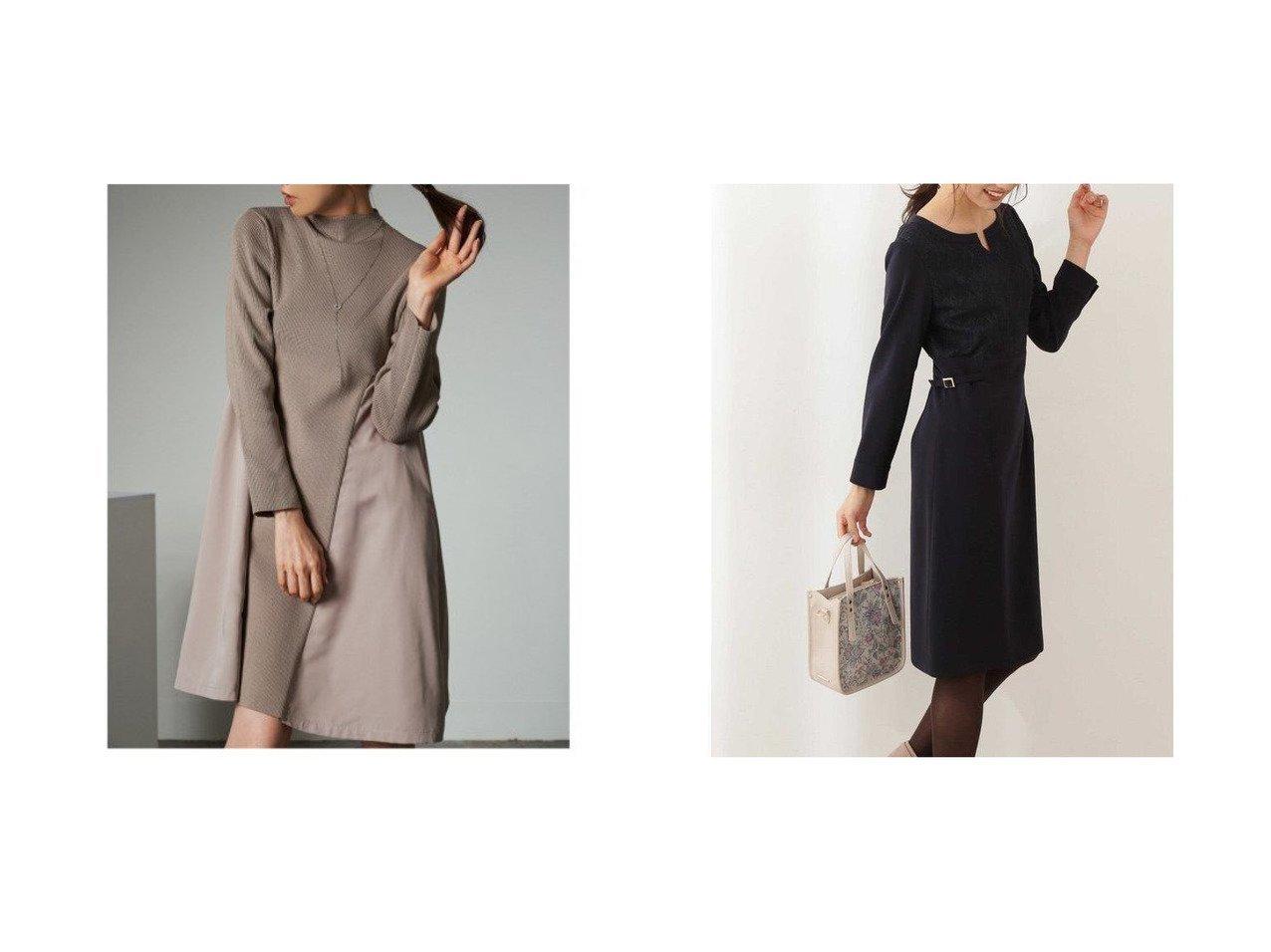【PROPORTION BODY DRESSING/プロポーション ボディドレッシング】のレースドッキングワンピース&【CELFORD/セルフォード】のドッキングAラインニットワンピース ワンピース・ドレスのおすすめ!人気、レディースファッションの通販  おすすめで人気のファッション通販商品 インテリア・家具・キッズファッション・メンズファッション・レディースファッション・服の通販 founy(ファニー) https://founy.com/ ファッション Fashion レディース WOMEN ワンピース Dress ニットワンピース Knit Dresses グログラン スマート ドッキング フォルム 冬 Winter オケージョン シンプル レース |ID:crp329100000004281