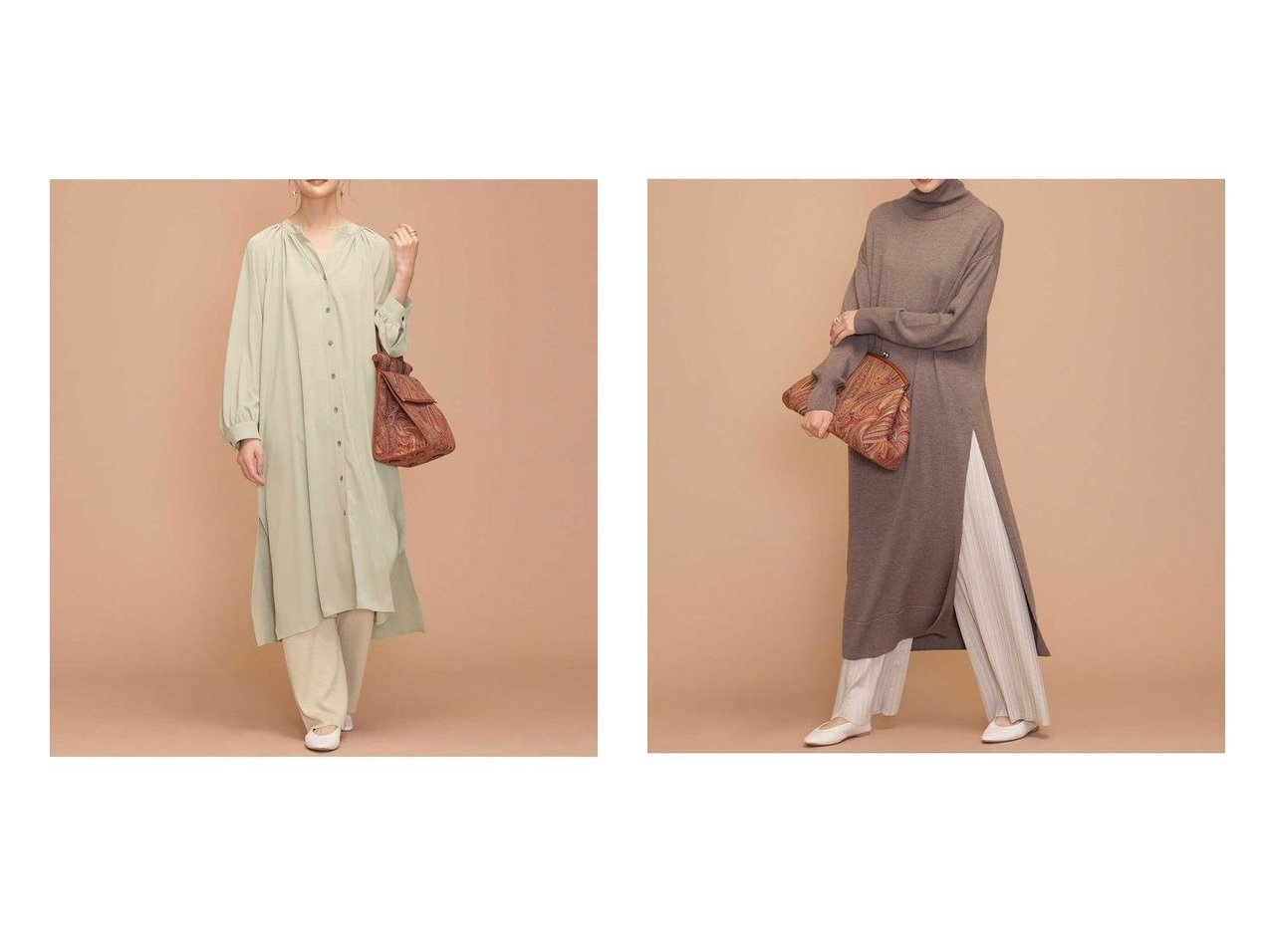 【nano universe/ナノ ユニバース】のジョーゼットワンピース×ニットパンツセット&ハイネックニットワンピース×プリーツパンツセット ワンピース・ドレスのおすすめ!人気、レディースファッションの通販  おすすめで人気のファッション通販商品 インテリア・家具・キッズファッション・メンズファッション・レディースファッション・服の通販 founy(ファニー) https://founy.com/ ファッション Fashion レディース WOMEN ワンピース Dress ニットワンピース Knit Dresses アクリル ウォッシャブル ギャザー シンプル ジョーゼット スキッパー スリット とろみ フロント リラックス |ID:crp329100000004282