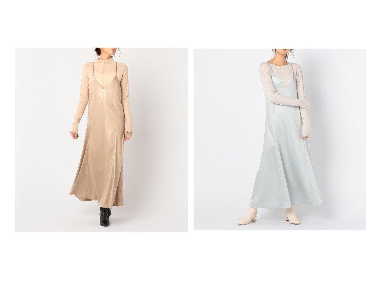【NOLLEY'S sophi/ノーリーズソフィー】のレザーライクサテンキャミワンピース ワンピース・ドレスのおすすめ!人気、レディースファッションの通販  おすすめで人気のファッション通販商品 インテリア・家具・キッズファッション・メンズファッション・レディースファッション・服の通販 founy(ファニー) https://founy.com/ ファッション Fashion レディース WOMEN ワンピース Dress キャミワンピース No Sleeve Dresses キャミワンピース |ID:crp329100000004291
