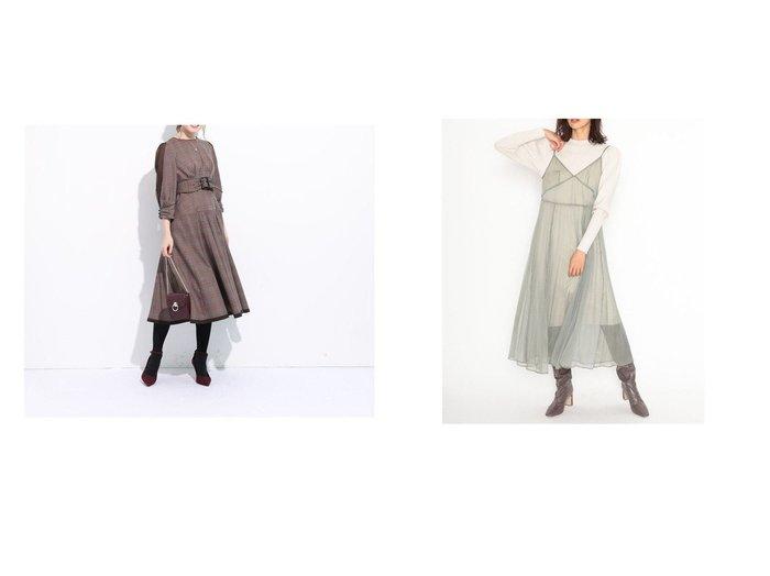 【Apuweiser-riche/アプワイザーリッシェ】のシアースリーブフレアワンピース&【SNIDEL/スナイデル】のシアーキャミレイヤードニットOP ワンピース・ドレスのおすすめ!人気、レディースファッションの通販  おすすめファッション通販アイテム レディースファッション・服の通販 founy(ファニー) ファッション Fashion レディース WOMEN ワンピース Dress クラシカル シアー シェイプ パイピング 切替 インナー キャミ キャミソール 今季 スマート スリーブ トレンド 定番 人気 バランス ベーシック ミックス |ID:crp329100000004296