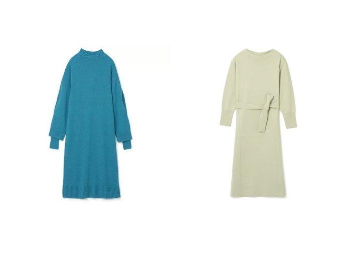 【LE CIEL BLEU/ルシェル ブルー】のAsymmetry Knit Dress&【martinique/マルティニーク】のニットワンピース ワンピース・ドレスのおすすめ!人気、レディースファッションの通販  おすすめファッション通販アイテム インテリア・キッズ・メンズ・レディースファッション・服の通販 founy(ファニー) https://founy.com/ ファッション Fashion レディース WOMEN ワンピース Dress ドレス Party Dresses ニットワンピース Knit Dresses スリット ドレス フェミニン リボン 長袖 |ID:crp329100000004308