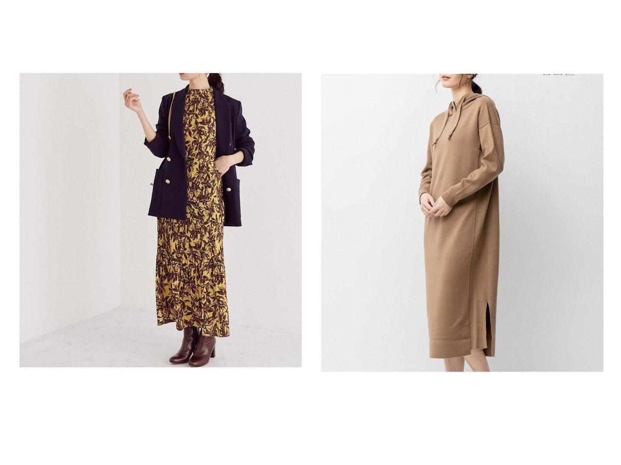 【JIYU-KU/自由区】の【UNFILO】ウールブレンドスムース ワンピース&【ROPE/ロペ】のプラントフラワープリントプリーツワンピース ワンピース・ドレスのおすすめ!人気、レディースファッションの通販  おすすめで人気のファッション通販商品 インテリア・家具・キッズファッション・メンズファッション・レディースファッション・服の通販 founy(ファニー) https://founy.com/ ファッション Fashion レディース WOMEN ワンピース Dress ニットワンピース Knit Dresses イエロー オレンジ キャミソール クラシカル スタンド ドレス フェミニン フラワー フレア プリント プリーツ ベスト ペプラム モダン モチーフ リーフ ウォーム パーカー フィット ロング 人気 抗菌 春 秋 |ID:crp329100000004313