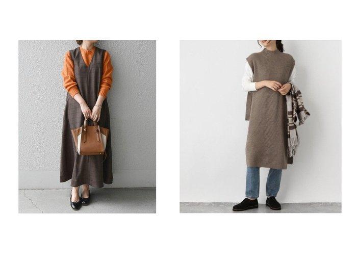 【GLOBAL WORK/グローバルワーク】の2SETハイネックベストOP&【SHIPS any/シップス エニィ】のSHIPS any: チェック マキシテント ワンピース ワンピース・ドレスのおすすめ!人気、レディースファッションの通販  おすすめファッション通販アイテム レディースファッション・服の通販 founy(ファニー) ファッション Fashion レディース WOMEN ワンピース Dress マキシワンピース Maxi Dress インナー カットソー シンプル スウェット チェック フレア ポケット マキシ ロング 人気 今季 無地 ハイネック ベスト ボトム |ID:crp329100000004315