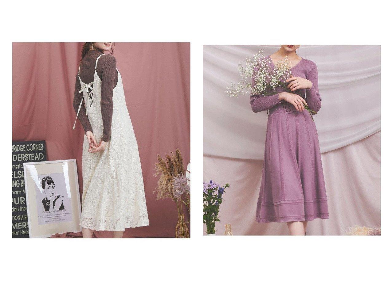 【Noela/ノエラ】のリブフレアニットワンピース&リブニット×キャミワンピースセット ワンピース・ドレスのおすすめ!人気、レディースファッションの通販  おすすめで人気のファッション通販商品 インテリア・家具・キッズファッション・メンズファッション・レディースファッション・服の通販 founy(ファニー) https://founy.com/ ファッション Fashion レディース WOMEN ワンピース Dress キャミワンピース No Sleeve Dresses ニットワンピース Knit Dresses キャミワンピース フィット ラップ リブニット レース ストライプ フレア |ID:crp329100000004316
