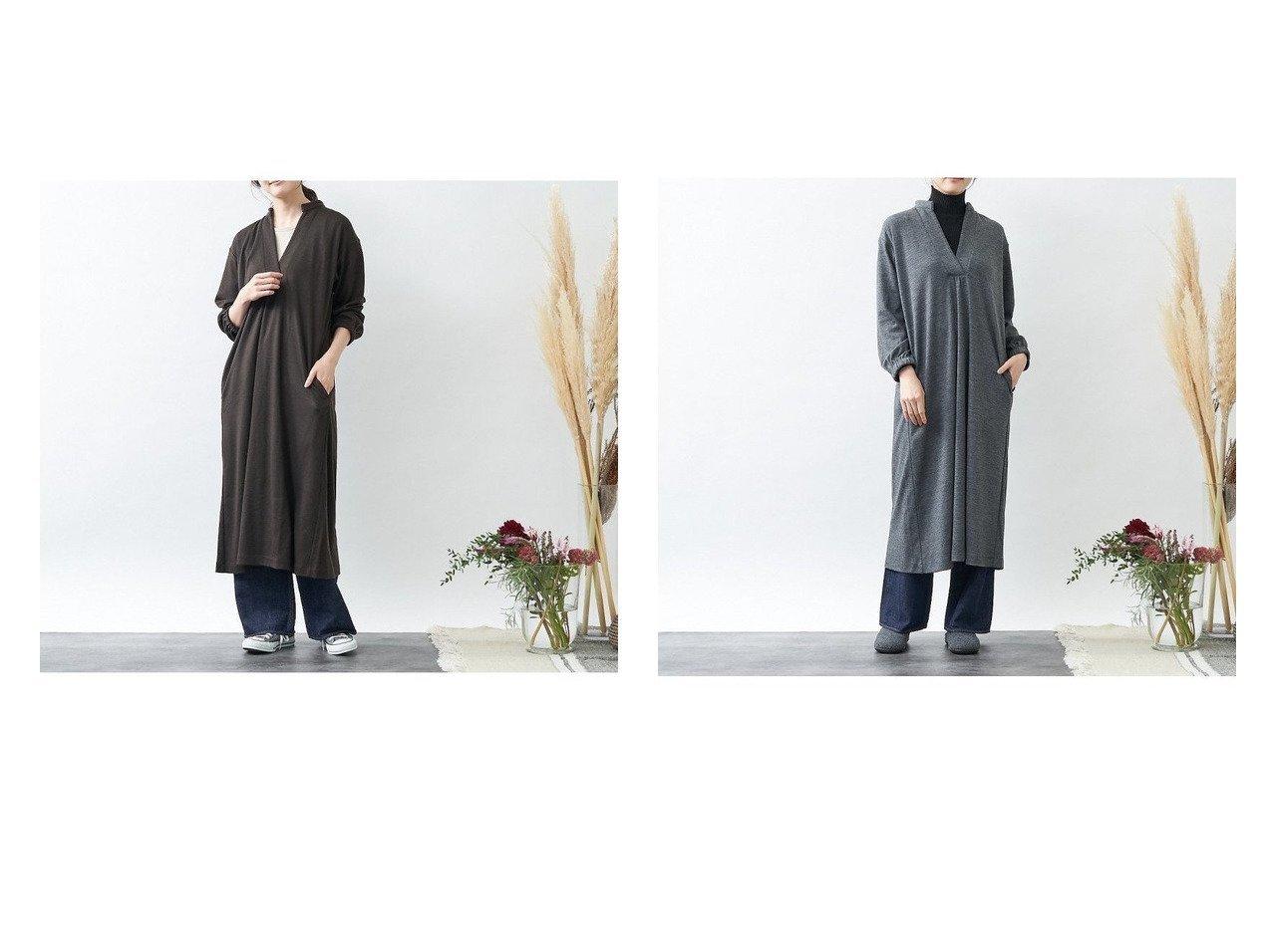 【collex/コレックス】のウール天竺ロングワンピース ワンピース・ドレスのおすすめ!人気、レディースファッションの通販  おすすめで人気のファッション通販商品 インテリア・家具・キッズファッション・メンズファッション・レディースファッション・服の通販 founy(ファニー) https://founy.com/ ファッション Fashion レディース WOMEN トップス Tops Tshirt シャツ/ブラウス Shirts Blouses ワンピース Dress シャツワンピース Shirt Dresses インナー カットソー タンク リラックス ロング |ID:crp329100000004320